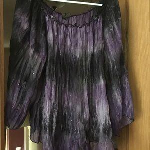 Sere Nade purple flowy top